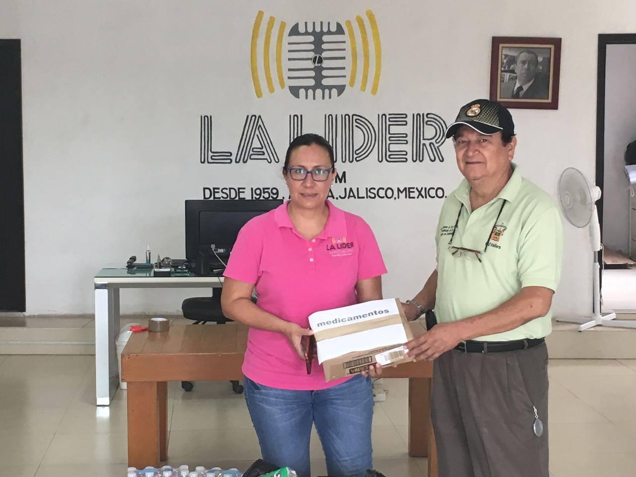 Entrega de donativos de La Líder a CUValles