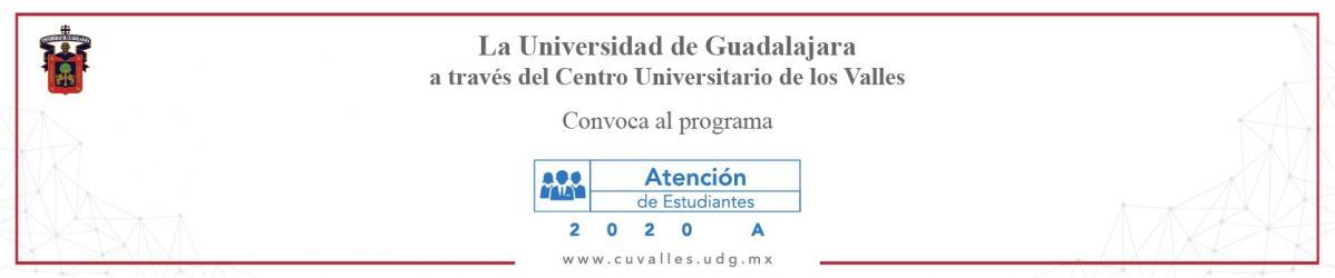 Convocatoria Atención a Estudiantes 2020A