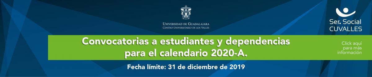 Convocatoria Servicio Social Calendario 2020 A
