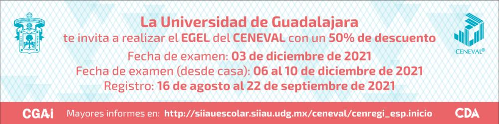 EGEL del CENEVAL 2021 - 3 de diciembre 2021 -