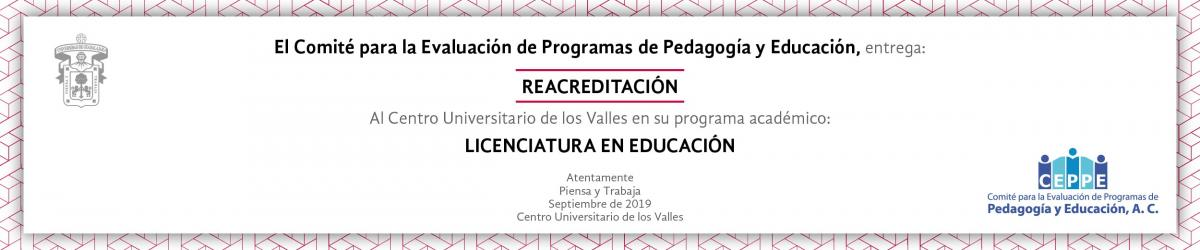 CEPPE Reacredita Licenciatura en Educación