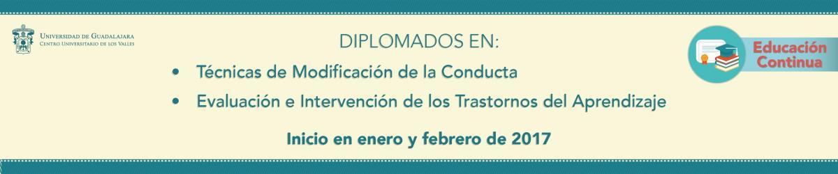 Diplomados en Técnicas de Modificación de la Conducta y Evaluación e Intervención de los Trastornos del Aprendizaje